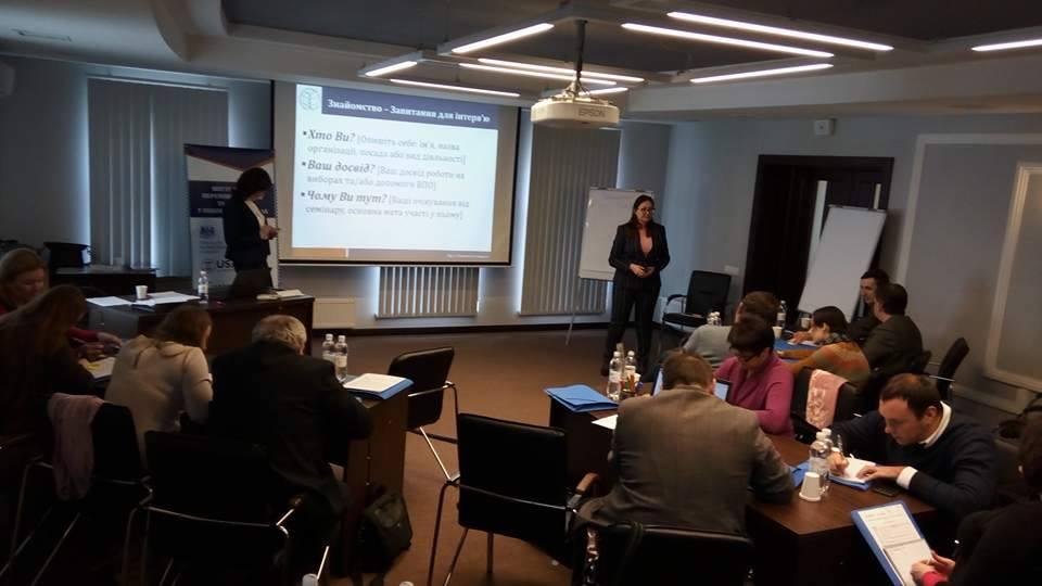 Представники Фонду «Право і демократія» взяли участь в обговоренні виборчих проблем ВПО